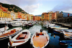 Camogli little harbor Stock Photos