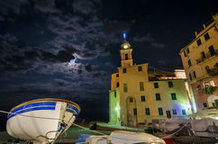 Camogli night Royalty Free Stock Images
