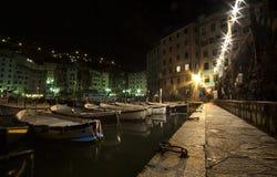 Camogli,at night Stock Image