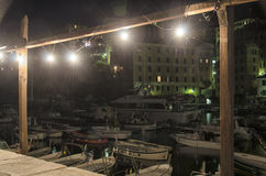 Camogli by night Royalty Free Stock Images