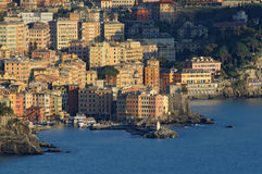 Camogli Panorama 2 Lizenzfreies Stockfoto