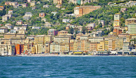 Camogli, panoramic view from the sea Stock Images