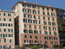 Camogli - Pastel-colored houses Royalty Free Stock Photography