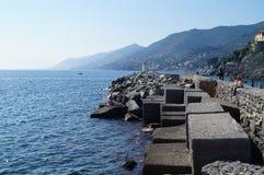Camogli rocks stock photography