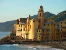 Camogli's church Stock Image