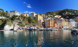 Camogli from the sea Stock Photo