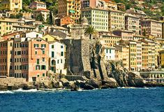 Camogli from the sea Stock Image