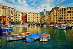 Camogli  sea port in Mediterranean Sea Royalty Free Stock Photography