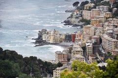 Camogli sikt - Italien Fotografering för Bildbyråer