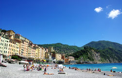 Camogli, small fisher village, italy Stock Images