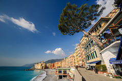 Camogli, The Promenade Along The Coastline Stock Photo