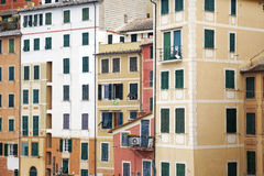 Camogli, typical houses. Color image Royalty Free Stock Photography