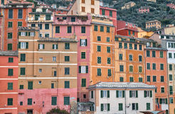 Camogli, the typical pastel-coloured houses Royalty Free Stock Photo