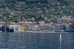 Camogli une ville en mer ligurienne Photographie stock