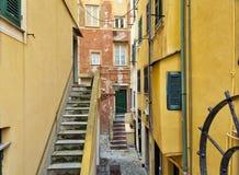 Camogli, viejo centro de ciudad Imagen del color Imagenes de archivo