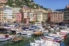 Camogli, view from the marina. Color image Royalty Free Stock Images