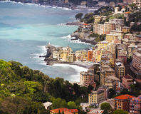 Camogli village aerial view Royalty Free Stock Photography