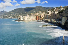 Camogli Waterfront Royalty Free Stock Photos
