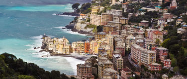 Camogli in a windy day Stock Image
