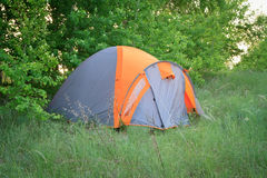 Camoing tent in the forest Royalty Free Stock Photos