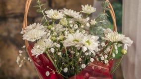 Camomila branca bonita em um ramalhete Imagem de Stock Royalty Free