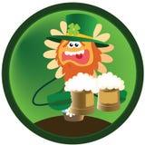 Camomila ridícula com cerveja em o dia de St. Patrick ilustração do vetor