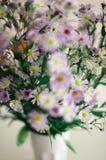 Camomila Wildflowers em um vidro Imagem de Stock Royalty Free