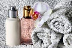 camomile ανασκόπησης bodycare απομονωμένο λευκό SPA προϊόντων σύνθεσης λουλούδι Στοκ Εικόνα