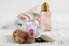 camomile ανασκόπησης bodycare απομονωμένο λευκό SPA προϊόντων σύνθεσης λουλούδι Στοκ Εικόνες