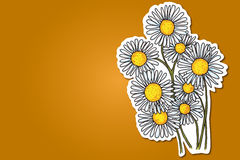 Camomile flowers. Abstract   illustration of camomile flowers royalty free illustration