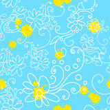 Camomile seamless Stock Images