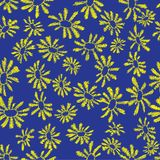 Camomile seamless pattern. Flower camomile seamless pattern background. Daisies medical vector sketch illustration Royalty Free Stock Image