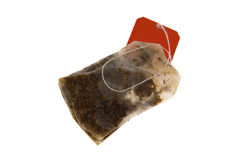 Camomile tea bag Stock Photos