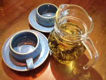 Camomile tea. Seasoning camomile tea, good for health including aromatic relax Stock Image