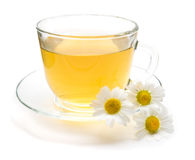 Free Camomile Tea With Chamomile Flower Isolated On White Royalty Free Stock Photography - 89142167