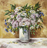Camomiles, Cornflowers und Origanum Lizenzfreie Stockfotos