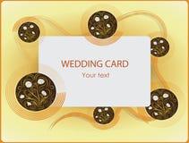 Camomilla Partecipazione di nozze Progettazione FELICE del manifesto di FESTA Fotografia Stock