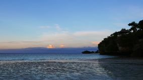 Camotes white sand beach stock video