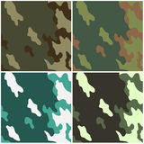 Camouflage. Four examples of a camouflage Stock Image