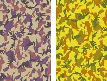 Camouflage. Seamless Camouflage Vectors - 2 versions Stock Image