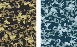 Camouflage. Seamless Camouflage Vectors - 2 versions royalty free illustration