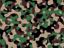 Camouflage. Hand drawn camouflage Royalty Free Stock Photography