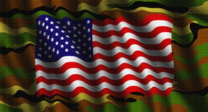 Camouflage American flag illustration Royalty Free Stock Image