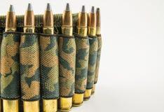 Camouflage ammunition belt Stock Photos