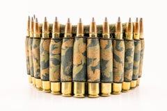 Camouflage ammunition belt Royalty Free Stock Image