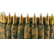 Camouflage ammunition belt. Royalty Free Stock Photography