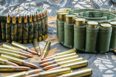 Camouflage ammunition belts Royalty Free Stock Image