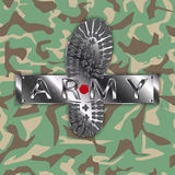 Camouflage army boot Stock Images