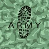 Camouflage army Stock Image