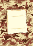 Camouflage background brown Royalty Free Stock Photography